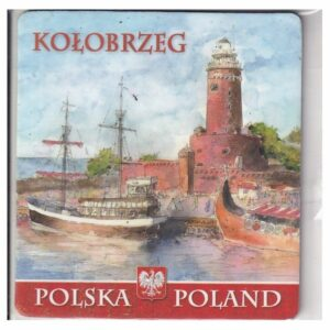 MAGNES NA LODÓWKĘ KOŁOBRZEG POLSKA AKWARELA 2547