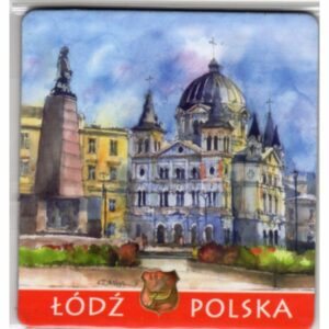 MAGNES NA LODÓWKĘ ŁÓDŹ POLSKA AKWARELA 975