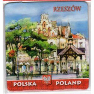 MAGNES NA LODÓWKĘ RZESZÓW POLSKA AKWARELA 989