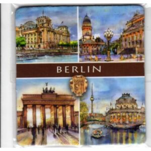 MAGNES NA LODÓWKĘ BERLIN NIEMCY HERB AKWARELA 1001