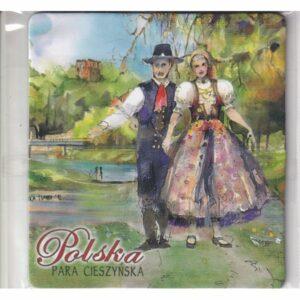 MAGNES NA LODÓWKĘ POLSKA STROJE LUDOWE PARA CIESZYN FOLKLOR 3536