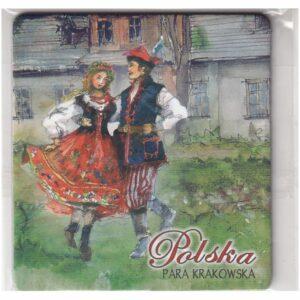 MAGNES NA LODÓWKĘ POLSKA STROJE LUDOWE PARA KRAKÓW FOLKLOR 3537