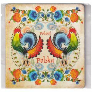 MAGNES NA LODÓWKĘ POLSKA FOLKLOR KOGUTY 3545