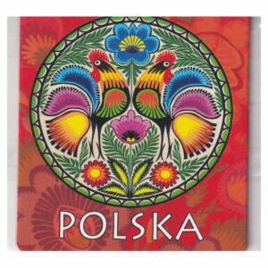MAGNES NA LODÓWKĘ POLSKA FOLKLOR KOGUTY 3546