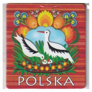 MAGNES NA LODÓWKĘ POLSKA FOLKLOR BOCIANY 3547