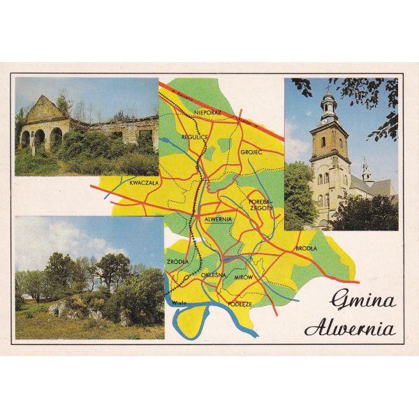 ALWERNIA MAPKA WIDOKÓWKA A77555
