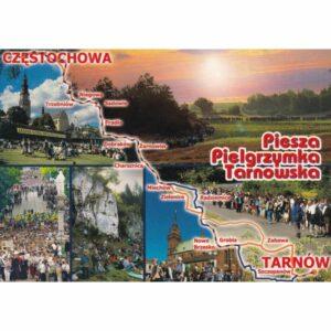 PIESZA PIELGRZYMKA TARNOWSKA MAPKA WIDOKÓWKA A77587
